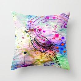 BIRD GRAPHIC Throw Pillow