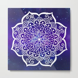 Galaxy Mandala Metal Print