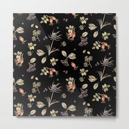 rosehip, chokeberries and teasel III Metal Print