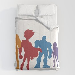 [ Teen Titans ] Robin, Starfire, Raven, Beast Boy and Cyborg Comforters