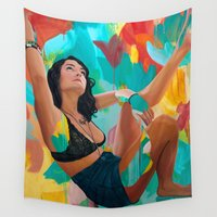 queer Wall Tapestries featuring Great Scott by Kim Leutwyler