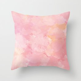 Rose Marble Watercolor #marble #watercolor #artwork #rose #blush #kirovair #homedecor #abstractart Throw Pillow