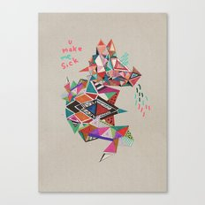 S I C K  Canvas Print