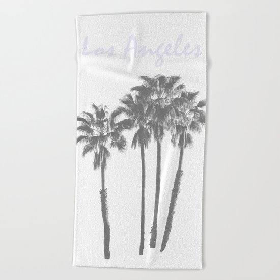 Los Angeles Poster Beach Towel