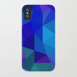 Sapphire Low Poly iPhone Case