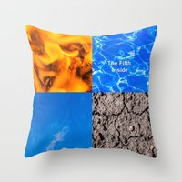 fifth element Throw Pillows featuring The Fifth Is Out There or Inside by digital2real