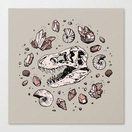 Geo-rex Vortex | Rose Quartz Canvas Print