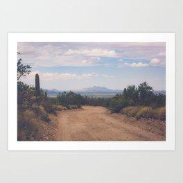 Down Desert Roads Art Print