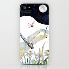 Good Night Surreal Dragonfly Artwork iPhone Case