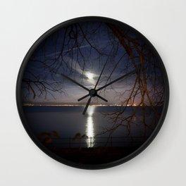 Spooky moon Wall Clock