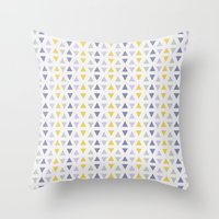 southwest Throw Pillows featuring Southwest Triangles by Kara Peters