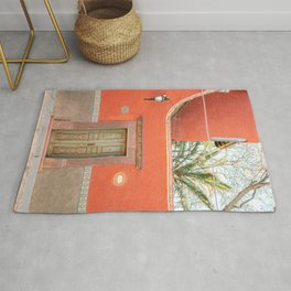 Red and Green | The San Miguel de Allende Mexico door collection | Travel photography print Rug