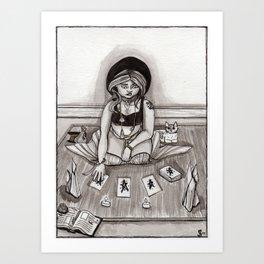 Tarot Reading Art Print
