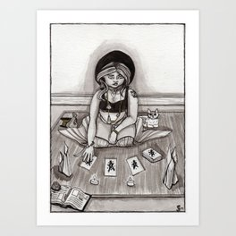 Tarot Reading Art Print
