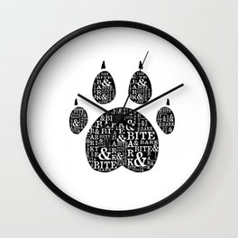 Bark & Bite Wall Clock