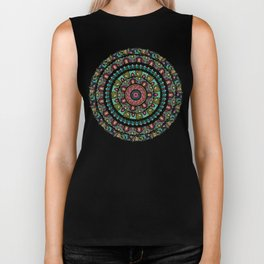 Sloth Yoga Medallion Biker Tank