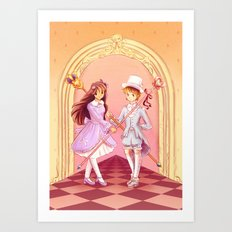 Pastel-wearing guards Art Print