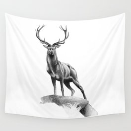 All Muscle - Red Deer Stag Wall Tapestry