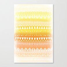 Triangle Gradient Gold Mix Canvas Print