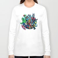 super heroes Long Sleeve T-shirts featuring Super Heroes by Carrillo Art Studio