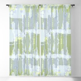 Gray and Yellow Modern Abstract Blackout Curtain