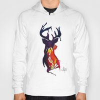 reindeer Hoodies featuring reindeer by Armyhu