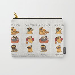 New Years Resolutions with The Pug Carry-All Pouch
