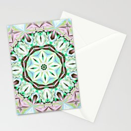 Mandala with fantasy flower and tribal patterns Stationery Cards