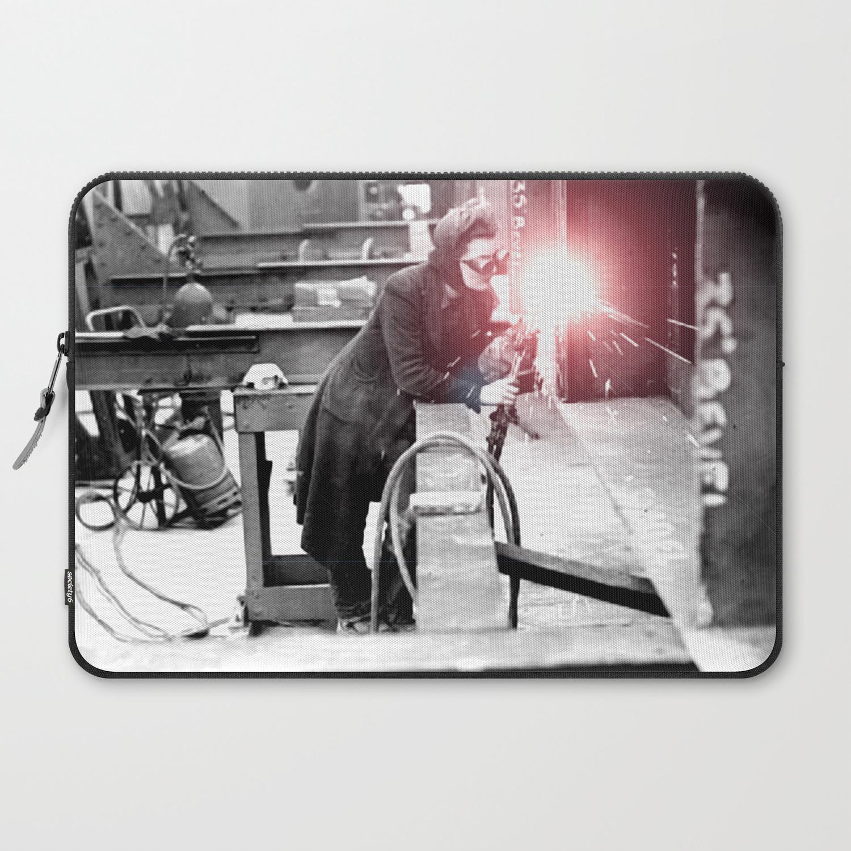 Vintage Female Welder / Oxy-Fuel Cutter Laptop Sleeve