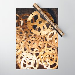 Gears & Leather Wrapping Paper