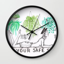 Safe Space Wall Clock