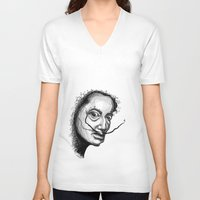 dali V-neck T-shirts featuring Dali by Robin Ewers