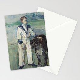 Henri de Toulouse-Lautrec - L'Enfant au chien, fils de Madame Marthe et la chienne Pamela, Taussat Stationery Cards