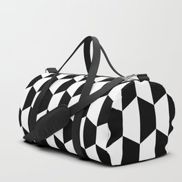Black and white hexagons Duffle Bag