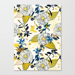 Flowers patten1 Canvas Print