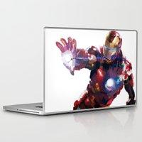 iron man Laptop & iPad Skins featuring Iron man by Gary Reddin