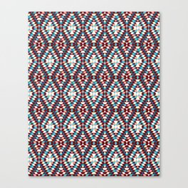 Cool vintag colorful pattern #society6 Canvas Print