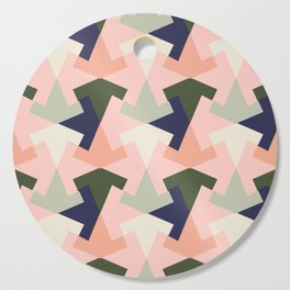 Retro pattern geometric Cutting Board