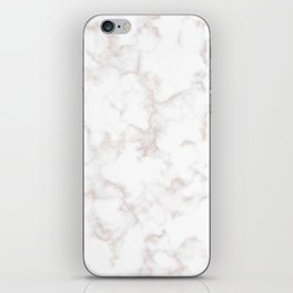 Rose Gold Marble Natural Stone Gold Metallic Veining White Quartz iPhone Skin