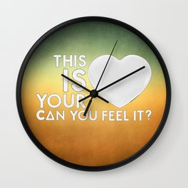 Bastille - Laura Palmer #4 (This Is Your Heart, Can You Feel It?) Wall Clock