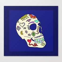 Sugar Skull Side Canvas Print