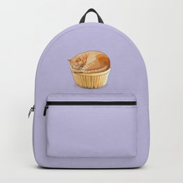 Orange Tabby Cat Cupcake Backpack