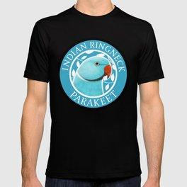 Indian Ringneck Parakeet (Blue) T-shirt