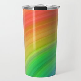 Bright Rainbow   Abstract gradient pattern Travel Mug