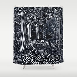 Broccoli Trees Shower Curtain