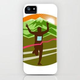 Marathon Finisher Oval iPhone Case