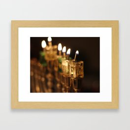Chanukah (Hanukkah) Menorah - Jewish Holiday Framed Art Print