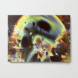 """Retro Moon Rising"" Metal Print"