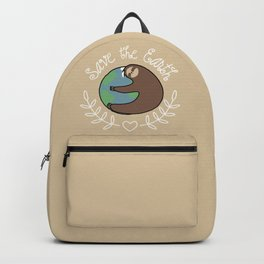 Save The Earth Sloth Backpack