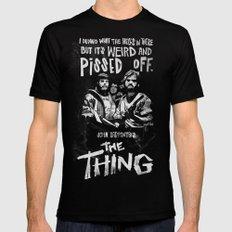 John Carpenter's The THING Mens Fitted Tee Black MEDIUM